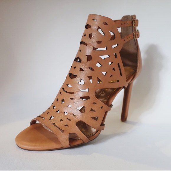 4713a25201 Jessica Simpson Shoes - Jessica Simpson laser cut cage heels/booties, 7.5